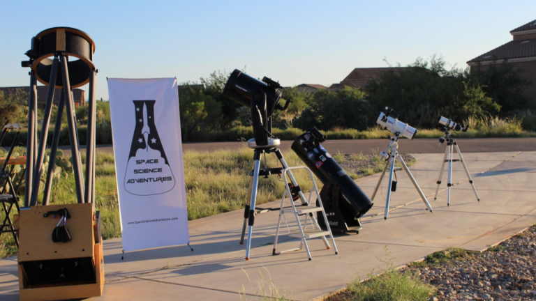 "Telescopes from 3.1"" (80mm) to 17"" (431mm) available for your event location"